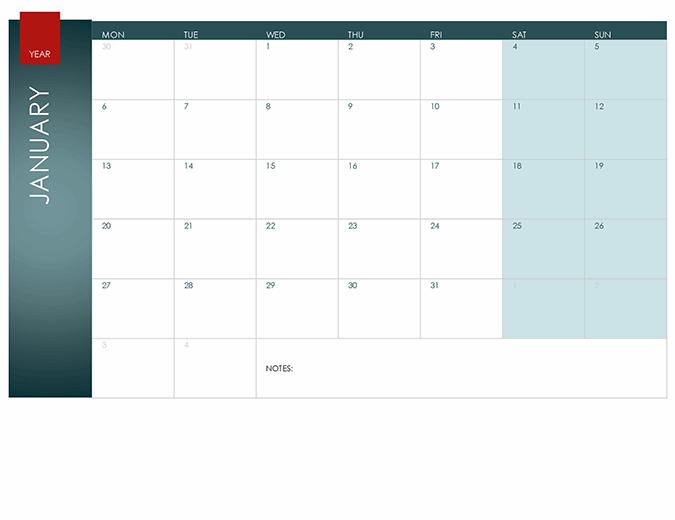 Any year calendar (Ion theme)
