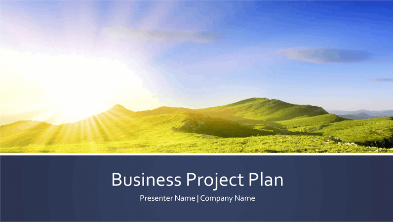 Business project plan presentation (widescreen)