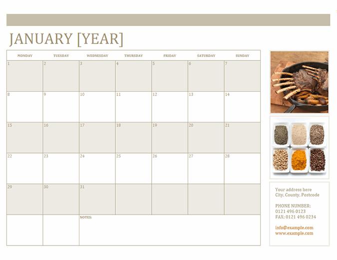 Photo calendar (Mon)