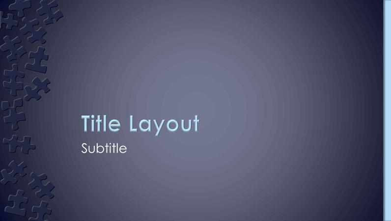 Jigsaw design slides