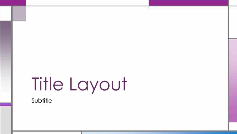 Vertical and horizontal design slides
