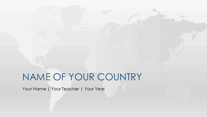 World country report presentation