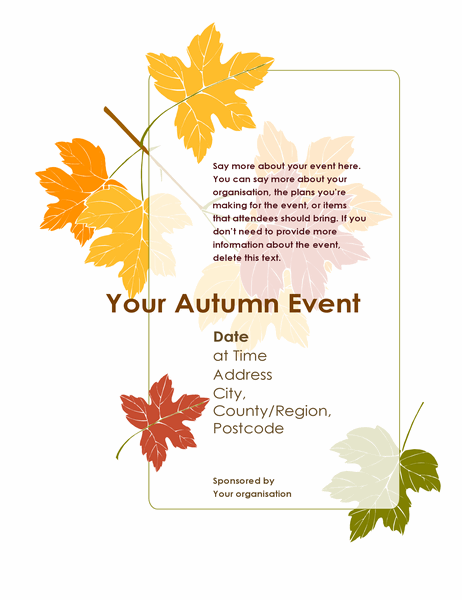 Autumn event flyer (with leaves)