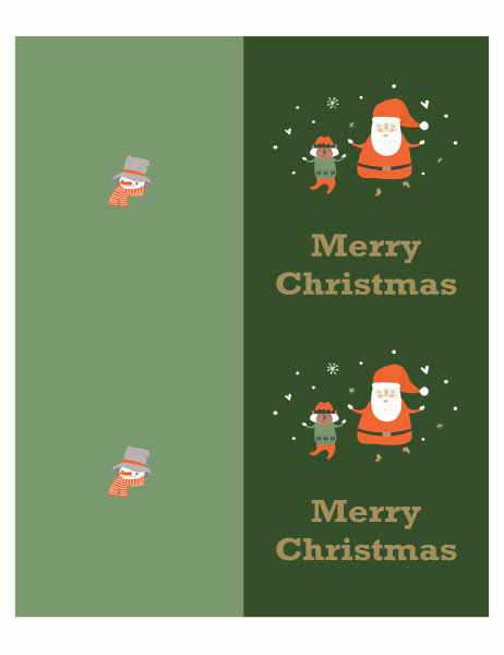 Christmas cards (Christmas Spirit design, two per page, for Avery paper)