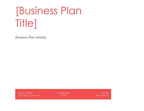 Business plan (Red design)