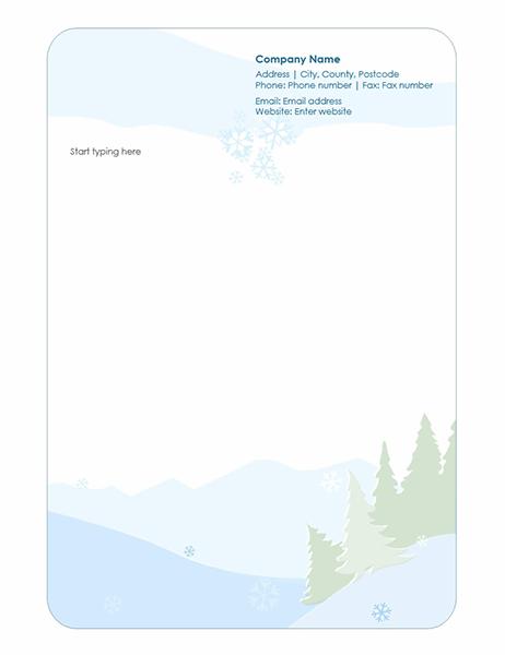 Winter stationery letterhead