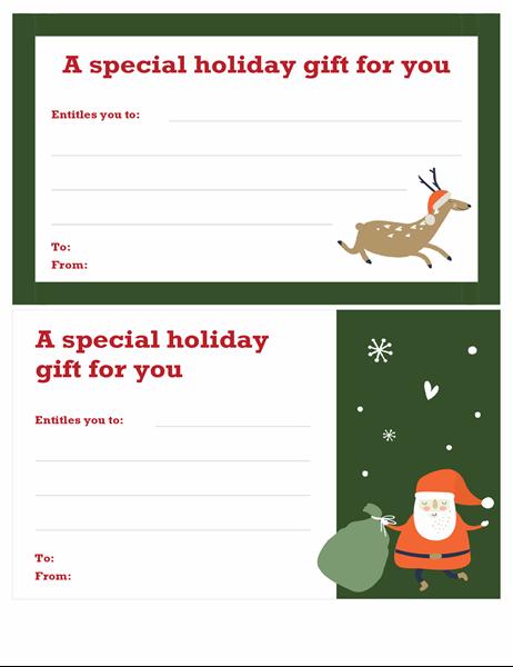 Christmas gift voucher (Christmas Spirit design)