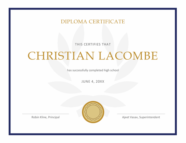 School leavers' certificate