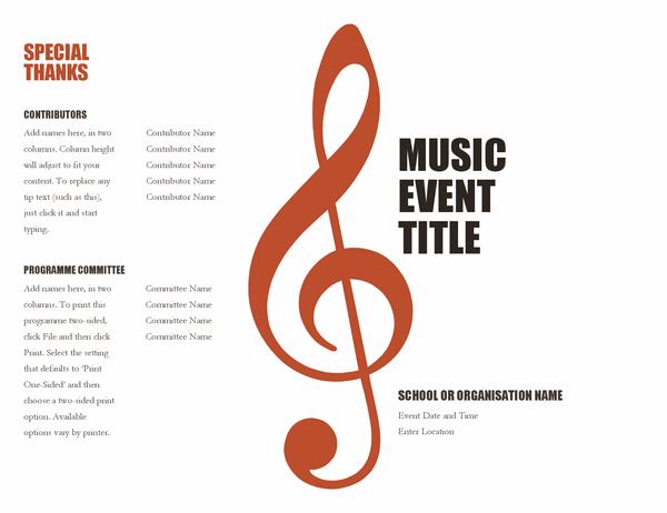 Music programme