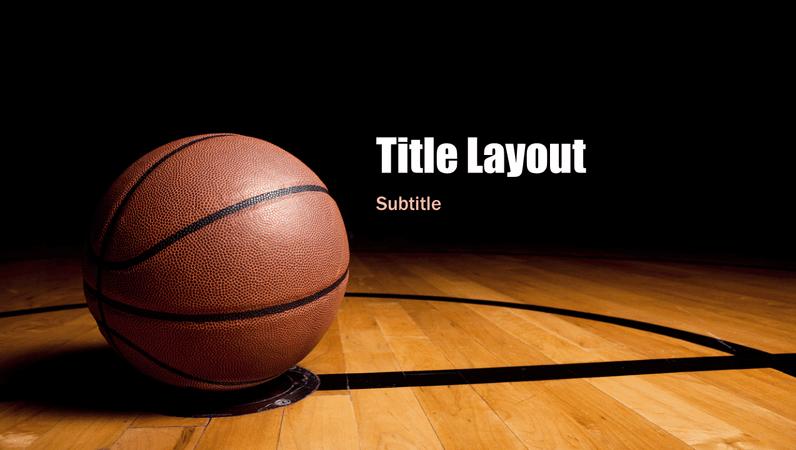 Basketball presentation (widescreen)