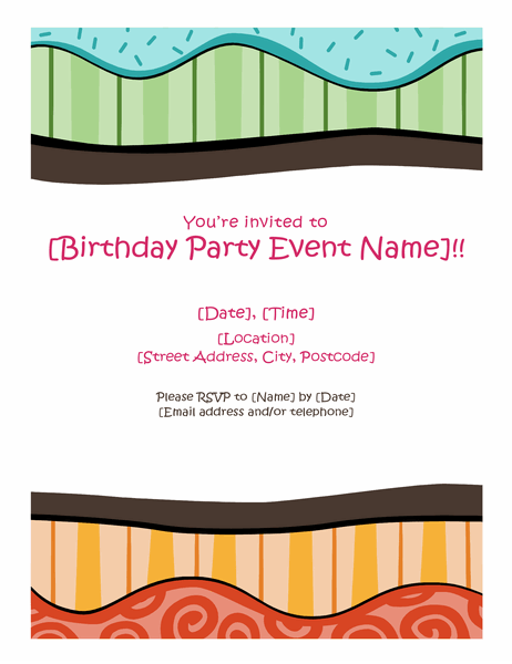 Birthday flyer (Bright design)