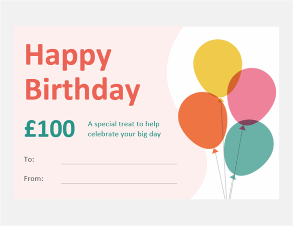 Birthday certificate note card