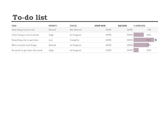 To-do list with progress tracker