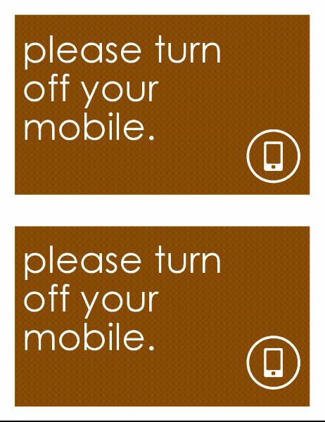 Anti-mobile sign (2 per page)