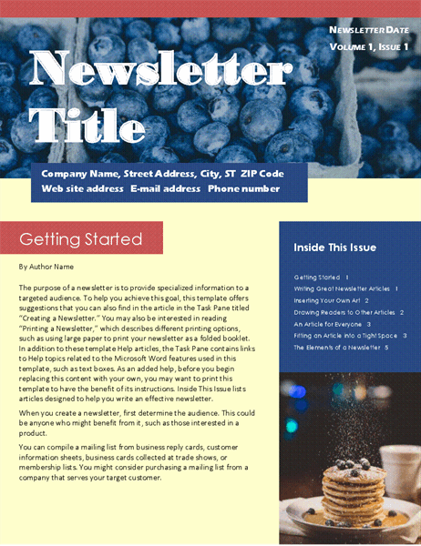 Business newsletter (2-col., 6-pp., mailer)