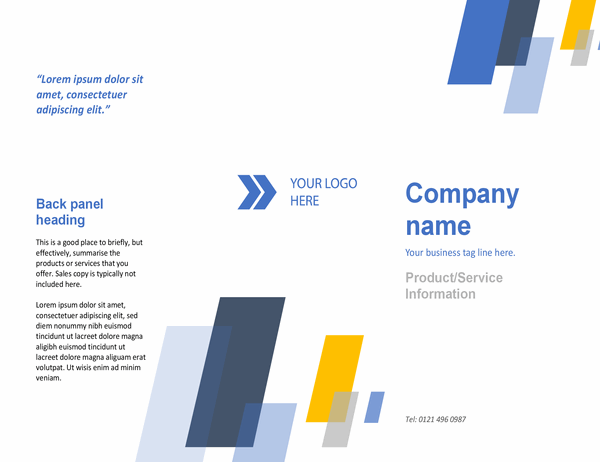 Brochure (Bars design)