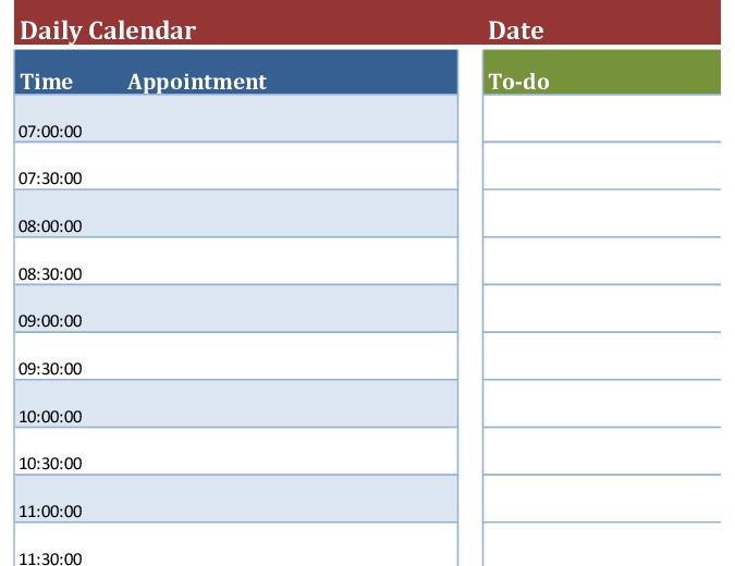 Printable Daily Calendar Template from binaries.templates.cdn.office.net