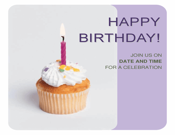 Birthday invitation flyer (with a cupcake)