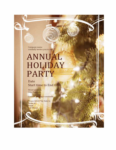 Christmas party invitation (for business event)