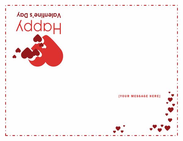 Valentine's Day card (quarter-fold)