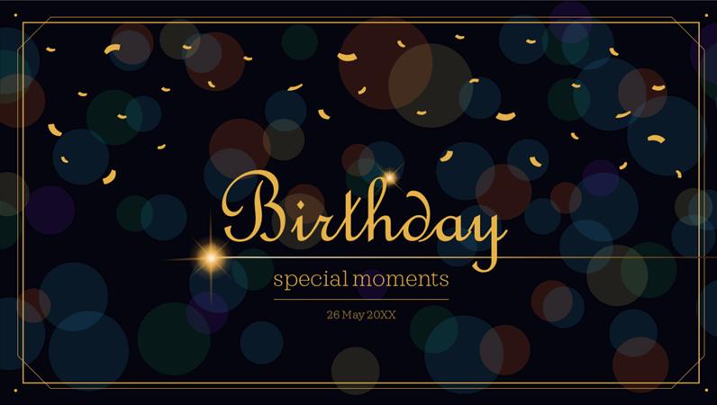 Life celebration birthday
