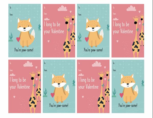 Children's Valentine's Day cards