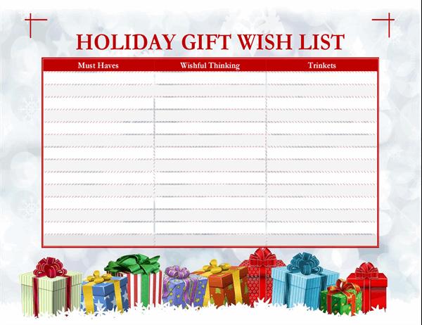 Grown-ups Christmas wish list