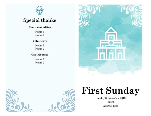 Religious service programme