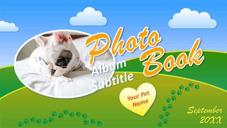 Pet photo book