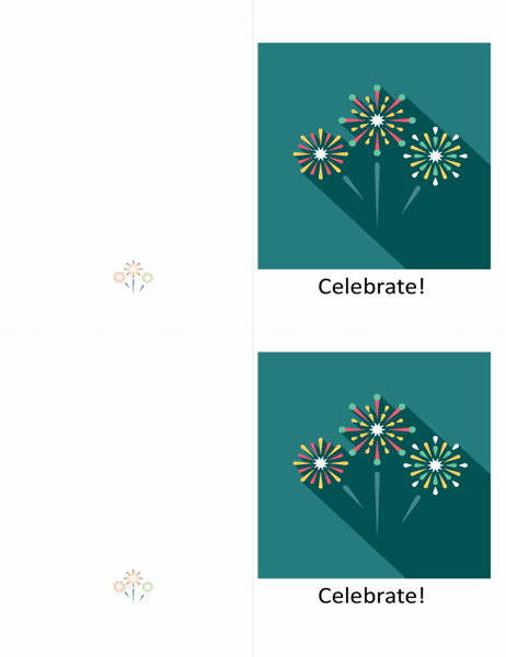 Fireworks celebration card