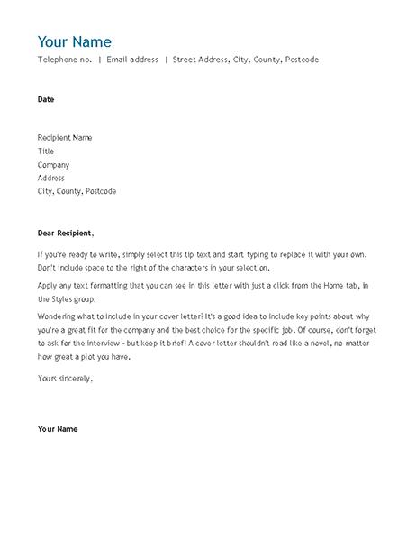 Cv Cover Letter Chronological