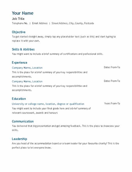 CV (chronological)