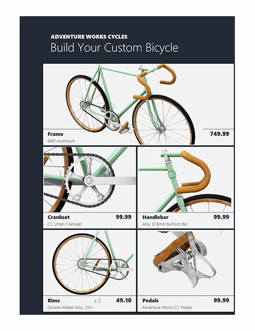3D Excel product catalogue (Bike model)