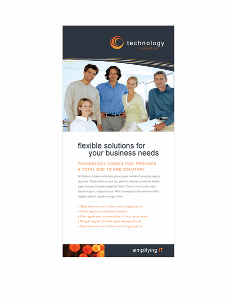 Technology business rack card