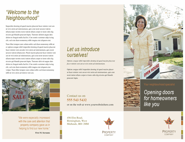 Property business brochure (tri-fold)