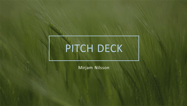 Green pitch deck