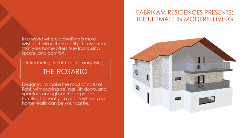 Fabrikam Residences - The ultimate in modern living