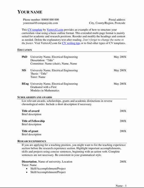 Extended CV