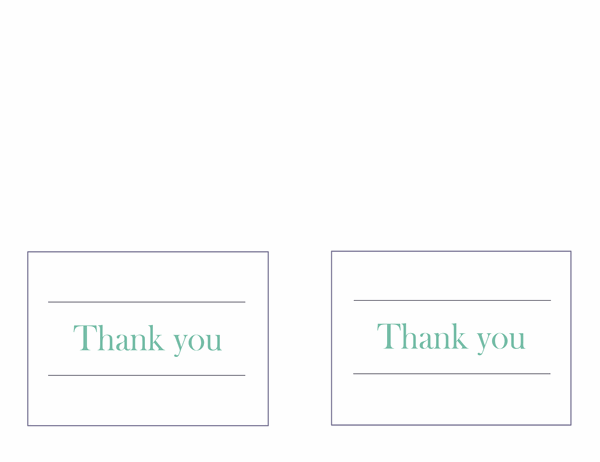 Wedding thank-you notes (two per page)