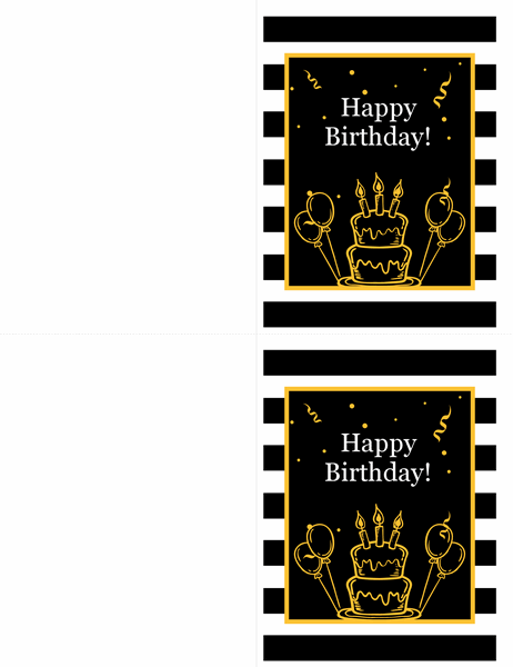 Cake and balloons birthday card