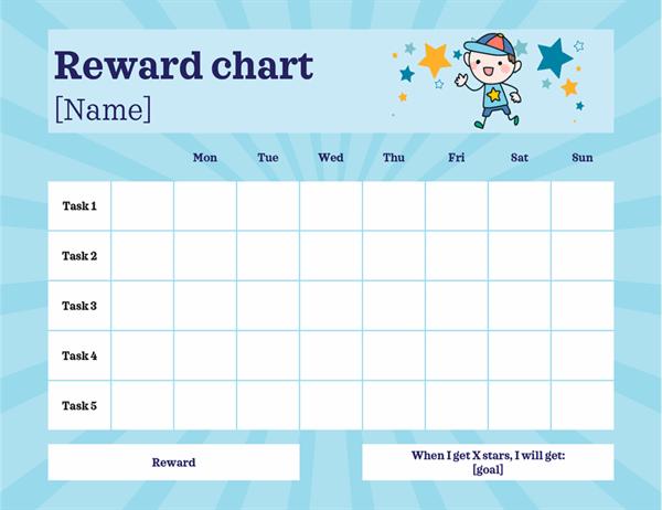 Tasks reward chart