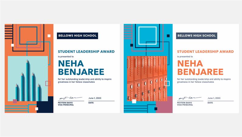 Geometric student leadership award