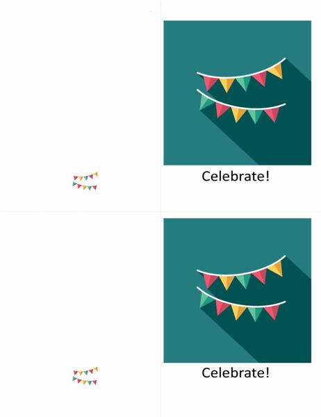 Bunting celebration card