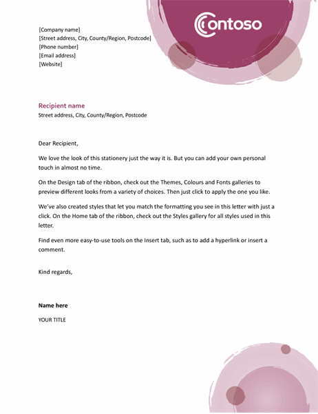 Rose suite letterhead