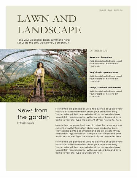 Landscaping newsletter