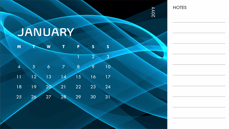 Abstract photo calendar