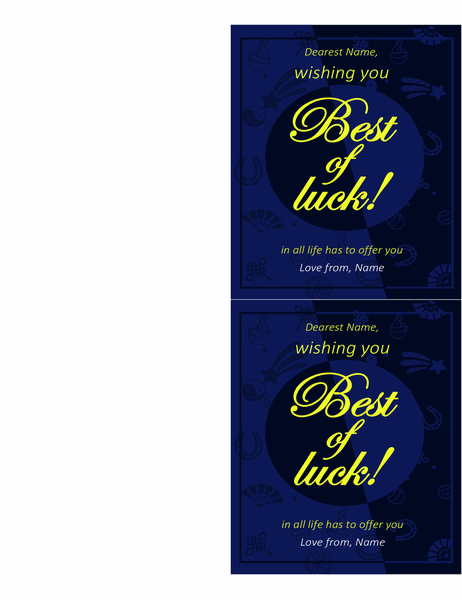 Best of luck card