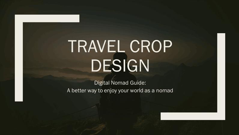 Travel Crop design