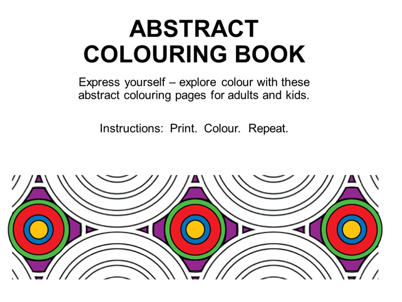 Abstract colouring book