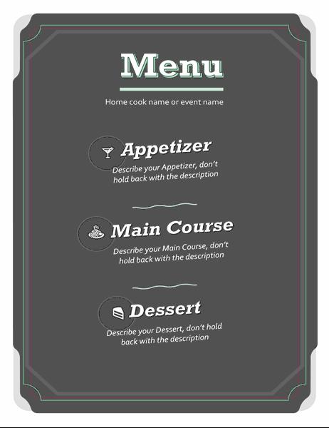 Basic menu